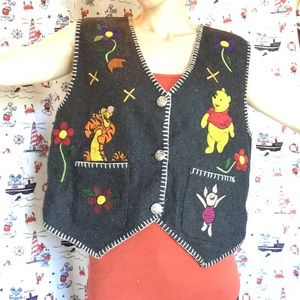 Disney Jackets & Coats - Disney Vintage Winnie The Pooh & Friends Vest